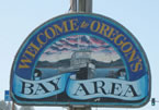 Oregon Bay Area sign