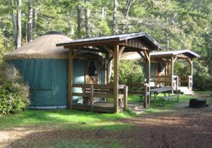 Yurts at Bullards Beach