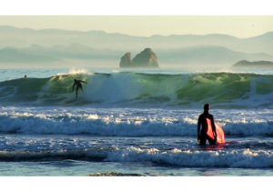 Surfing near Port Orford